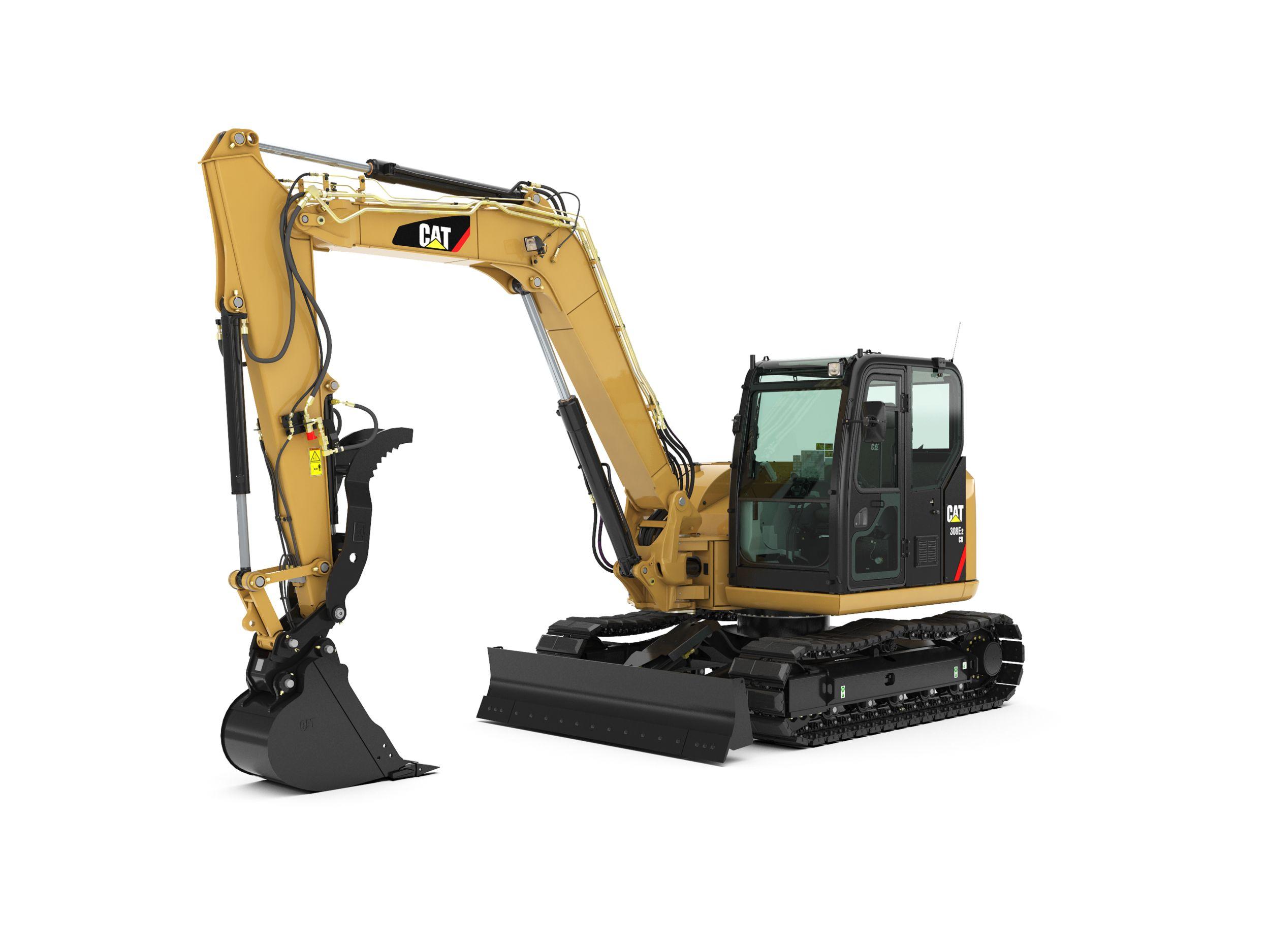 308E2 CR Mini Hydraulic Excavator with Swing Boom