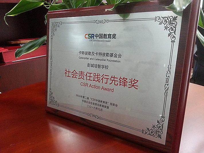 """彭城培智学校项目获2016第二届CSR中国教育奖""""社会责任践行先锋奖"""""""
