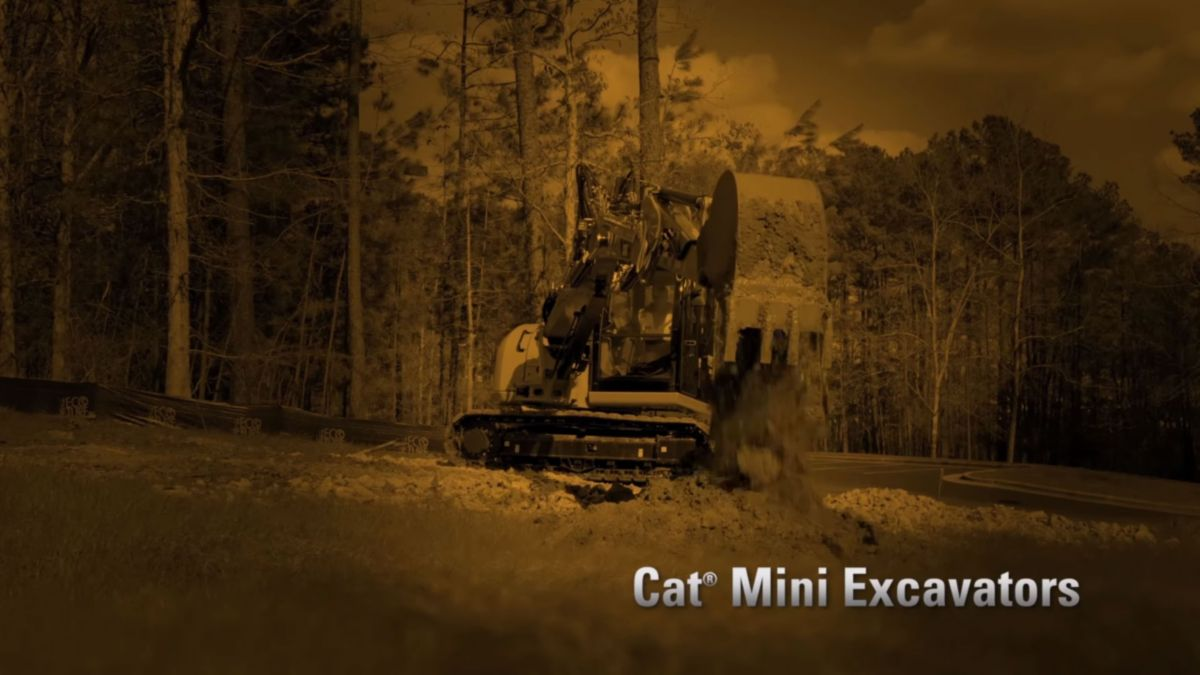 Cat 308E2 Mini Excavator video
