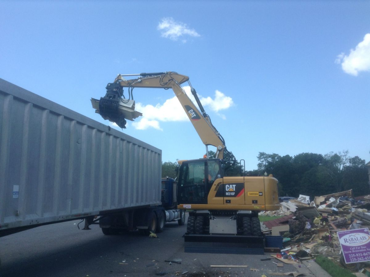 That customer, Gator Environmental, had a contract to clean up approximately 330,000 tons of construction and debris