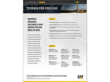 Cat® Terrain for Drilling At a Glance