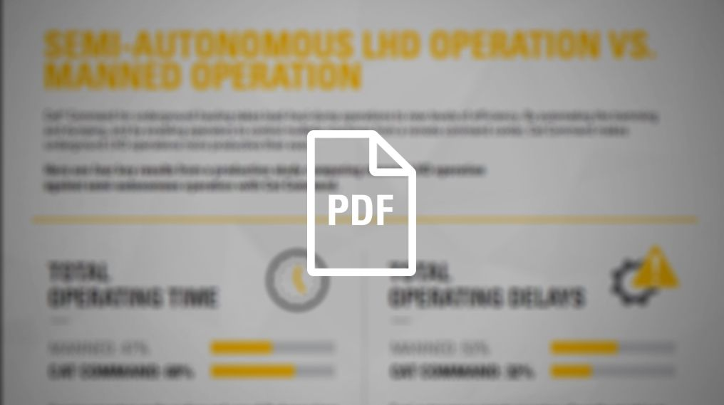 Semi-Autonomous LHD Operation Vs. Manned Operation