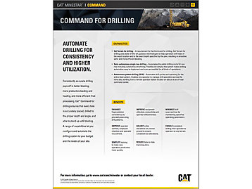 Cat® Command for Drilling At a Glance - Accurate drilling