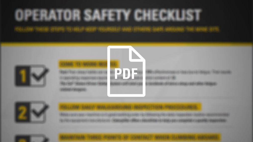 Operator Safety Checklist