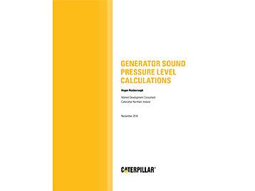GENERATOR SOUND LEVELS
