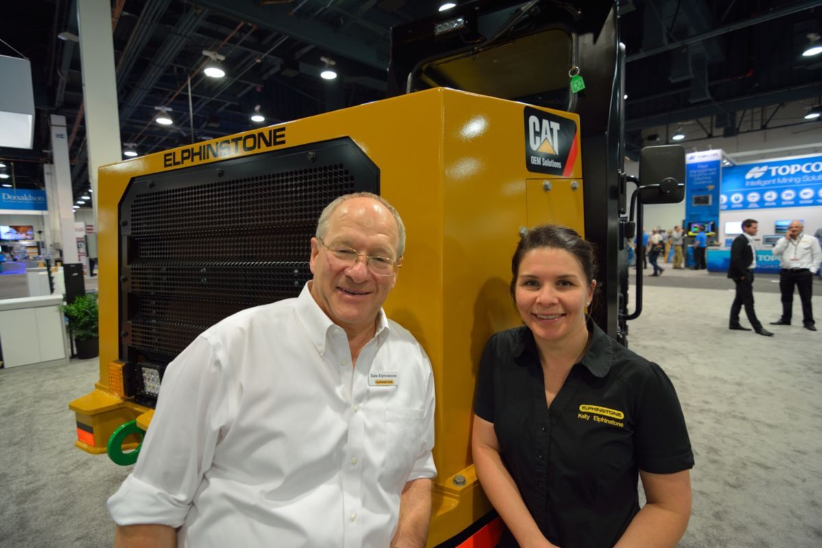 Dale and Kelly Elphinstone discussed the next generation of Elphinstone underground support vehicles and their relationship Caterpillar at MINExpo 2016.