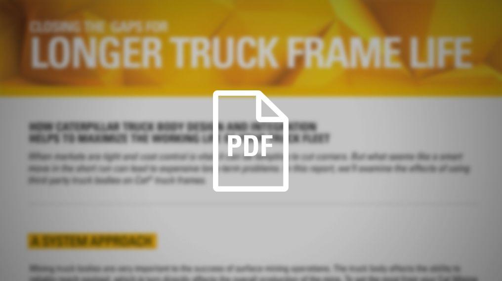 Longer Truck Frame Life