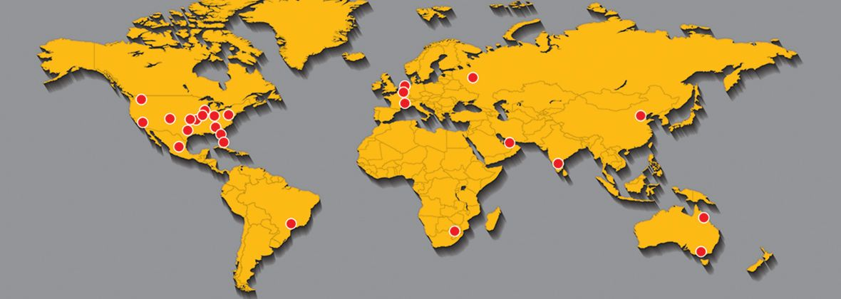 global parts distribution centers map