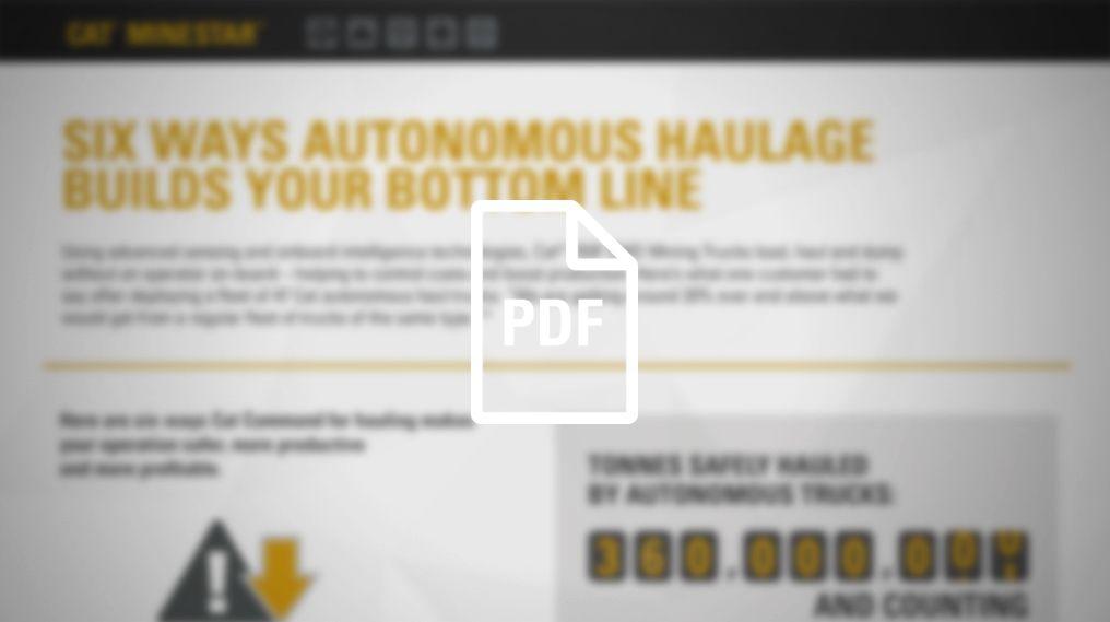 Autonomous Haulage Builds Your Bottom Line