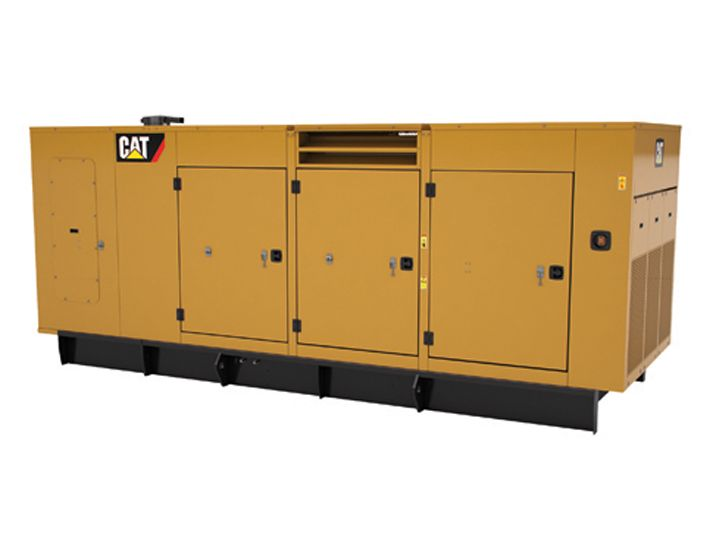 Fotografía del C13, C15, C18 SA enclosure. 350-600 kW 60 Hz