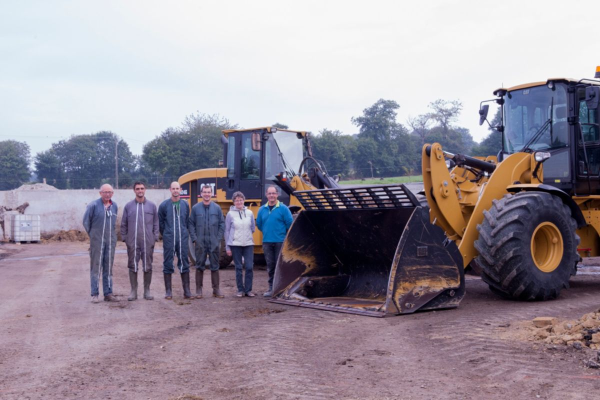 Grégory Hamel and his partners opted for Cat® machines nearly 12 years ago, with the purchase of their first Cat wheel loader.