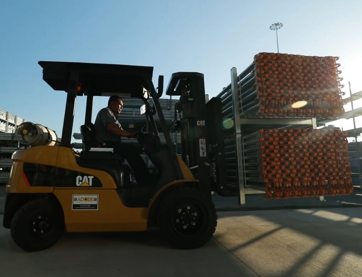 The forklift's speed and power were two huge benefits for Direct Scaffold Supply.