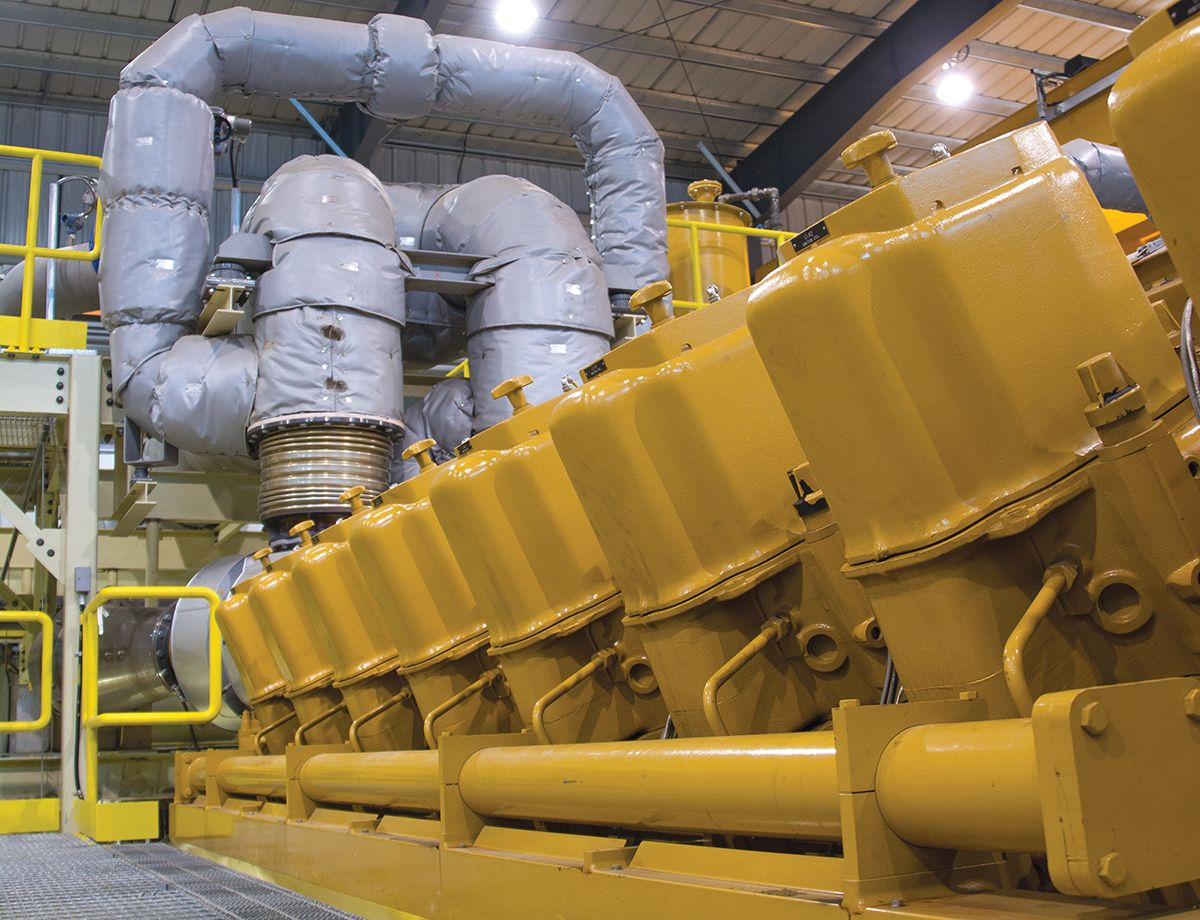 ANC commissioned a 65 MW natural gas-fired power plant, powered by 10 Cat® G16CM34 generator sets.