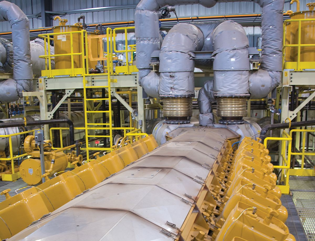 The Cat power plant runs about 25 percent of the time, ramping up quickly to meet demand.