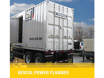 Cat Rental Power has the equipment you need