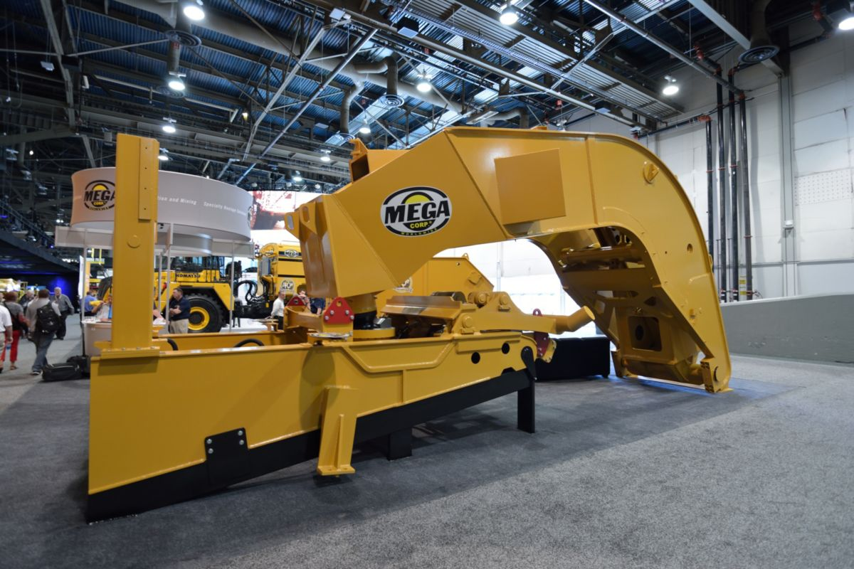The gooseneck of the Mega Equipment Trailer (MET) was on display at MINExpo 2016.