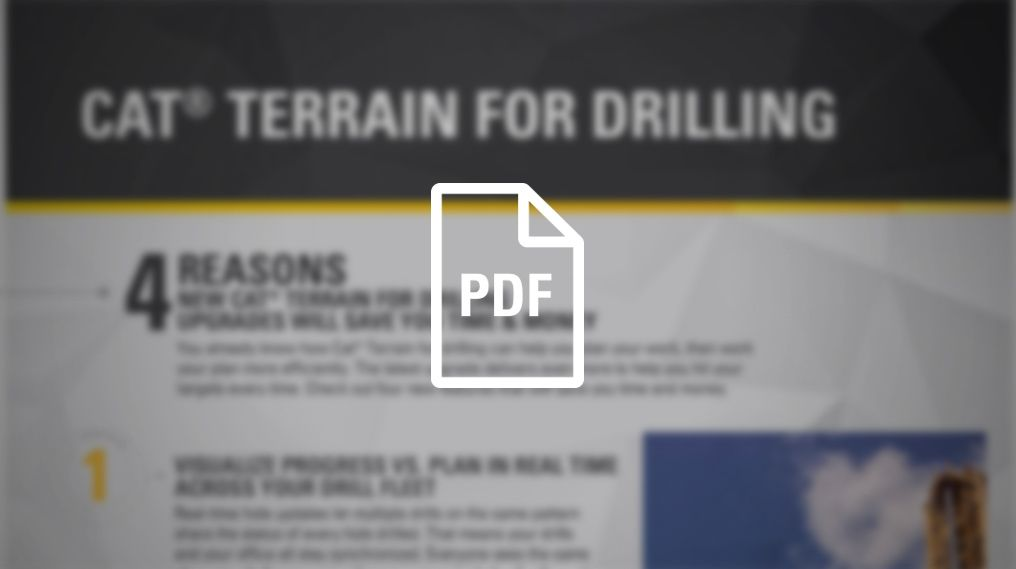 What's New with Cat Terrain for Drilling