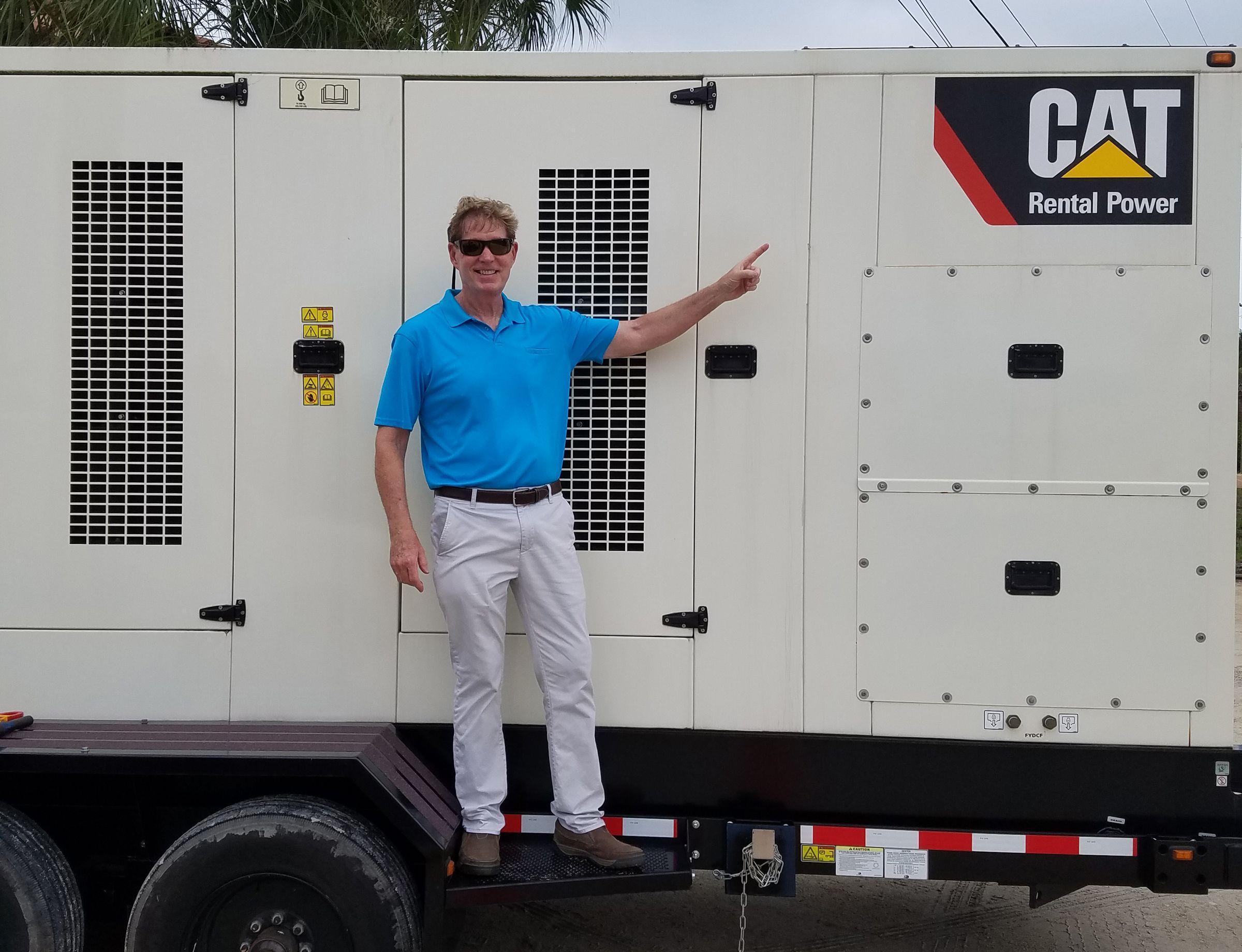 One month before Hurricane Matthew hit, Cat Dealer Ring Power installed a rental generator at La Fiesta Ocean Inn.