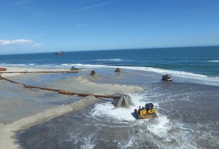Cat® Products Work to Restore New Jersey Shoreline