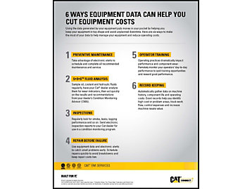 6 Ways Equipment Data Can Help You Cut Equipment Costs