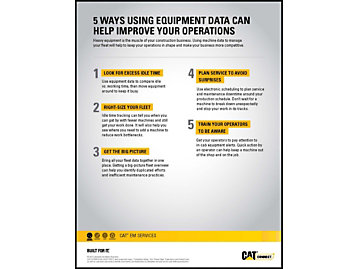 5 ways using equipment data can help improve your operations