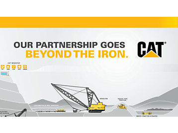 Our Partnership Goes Beyond the Iron - Cat Mining Screensaver