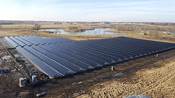 Caterpillar's solar photovoltaic system installed in Rantoul, Ill.