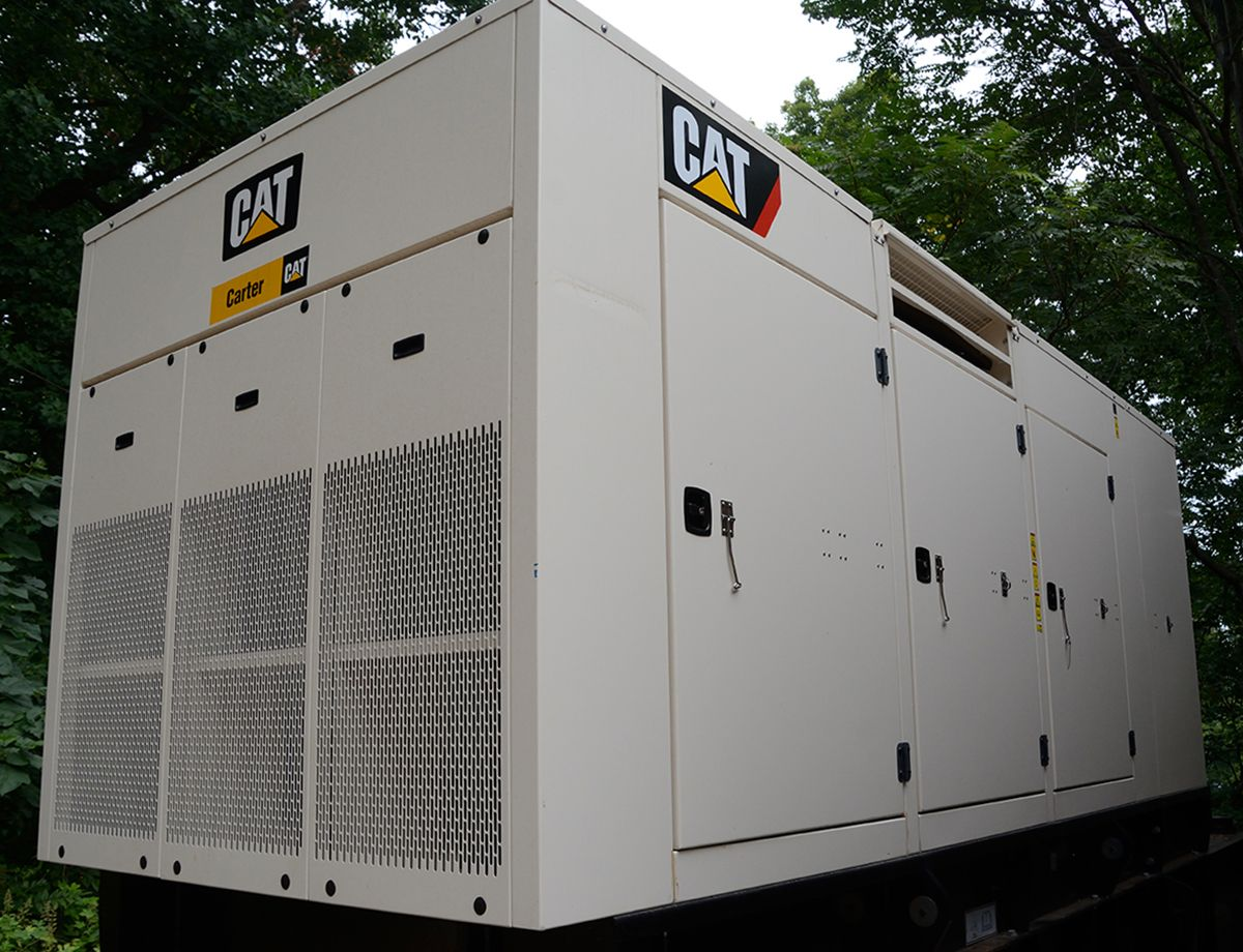 Monticello uses a 500 kW Cat C15 ACERT diesel gen set equipped with a sound-attenuated, weather-protected enclosure to minimize noise.
