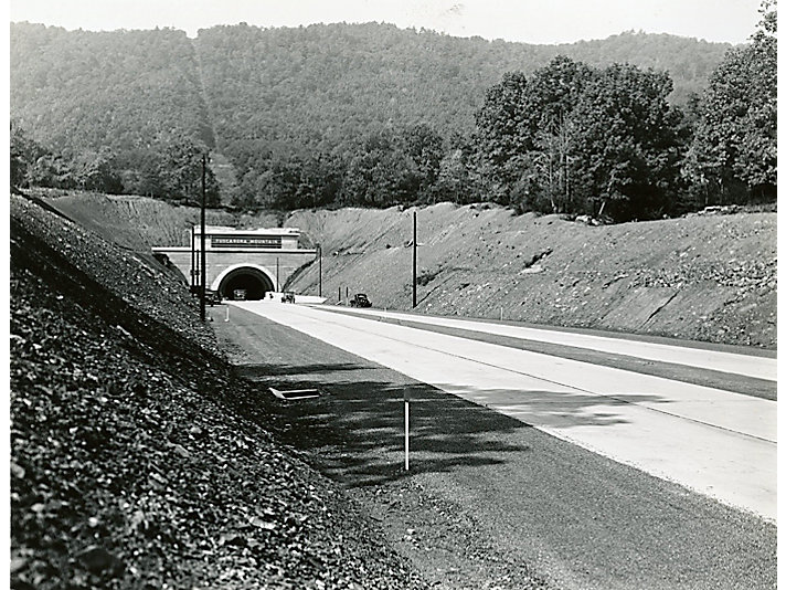 Tunnel entering the Pennsylvania Turnpike, 1940