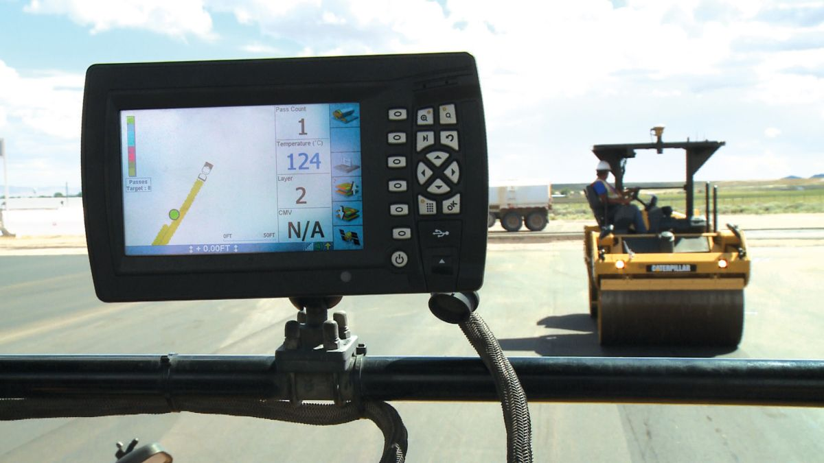 The Machine-to-Machine Communication system assists in keeping rolling patterns coordinated by sharing coverage and pass-count maps via the operating displays of multiple machines.