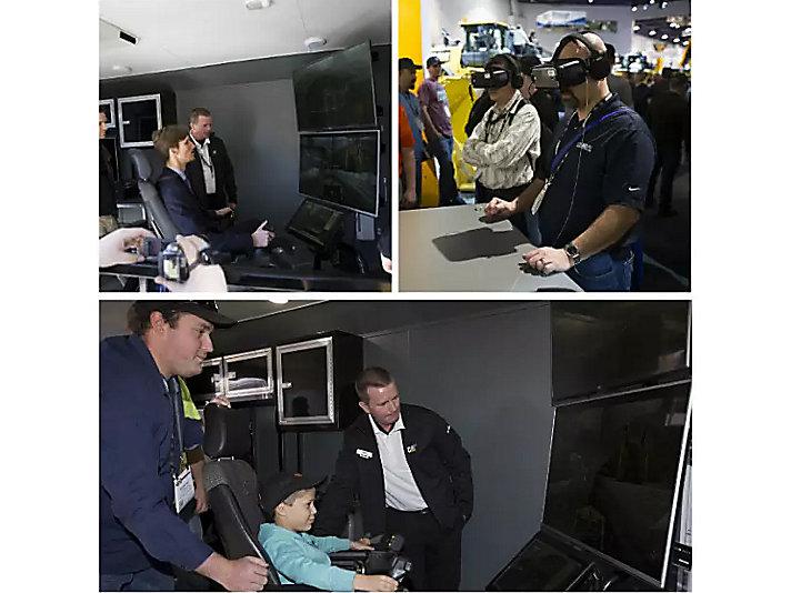 第一日:观众们通过虚拟技术体验卡特智能带来的便利和优势