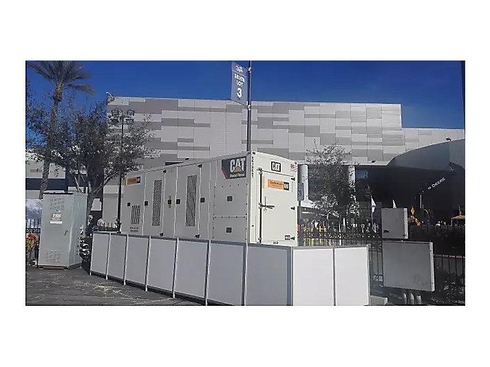 第一日:为展馆默默提供电力支持的卡特彼勒发电机组