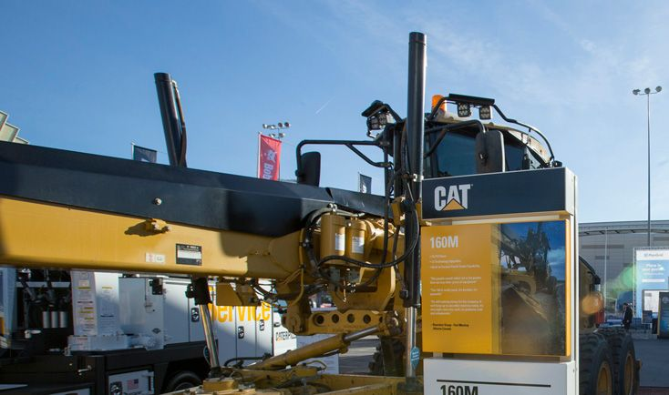 Retrofitted Motor Grader with 24,000 Hours Featured at CONEXPO