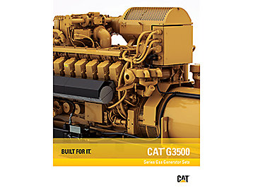 CAT G3500 SERIES GAS GENERATOR SETS