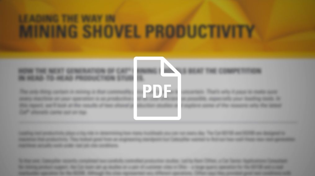 Mining Shovel Productivity