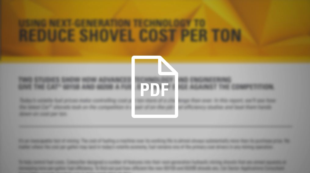 Reduce Shovel Cost Per Ton