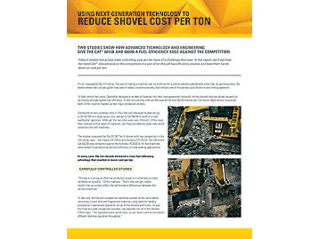 Mining Shovels:  Real  Results  -  Reduced Cost Per Ton
