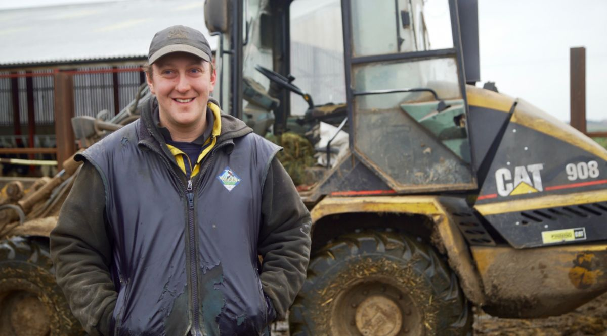 Chris Dixon, with his Cat® 908 Wheel Loader
