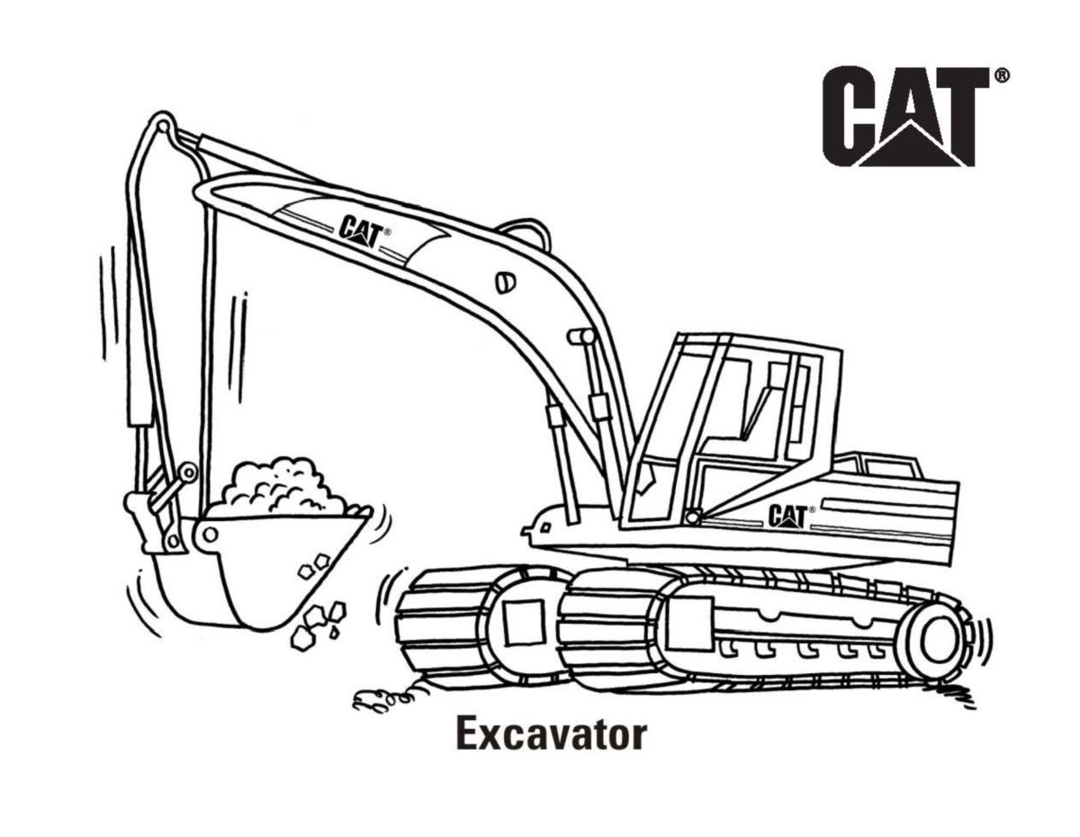 Cat | Free Cat® Machine and Product Coloring Pages | Caterpillar