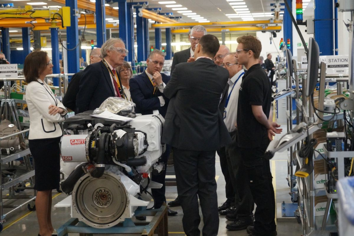 Perkins welcomes dignitaries to upgraded facility in Wimborne, Dorset, UK