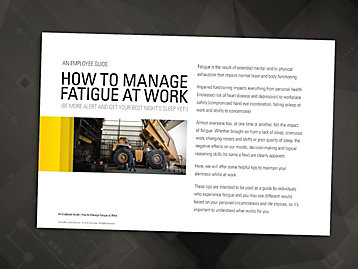 employee fatigue handbook