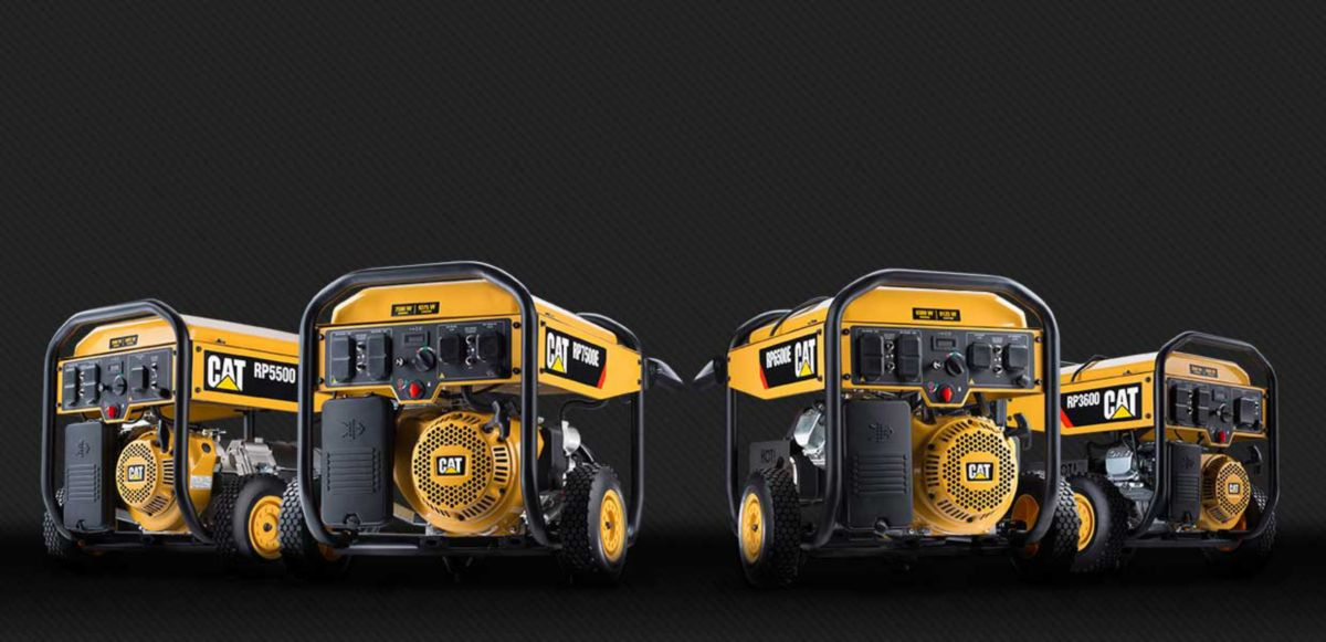Cat® RP Series, a Line of Portable Generators from 3,600 to 12,000 Watts of Power*