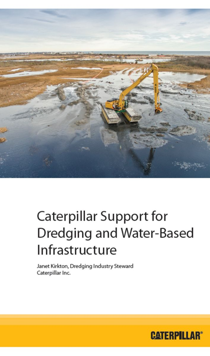 Caterpillar Support for Dredging and Water-Based Infrastructure