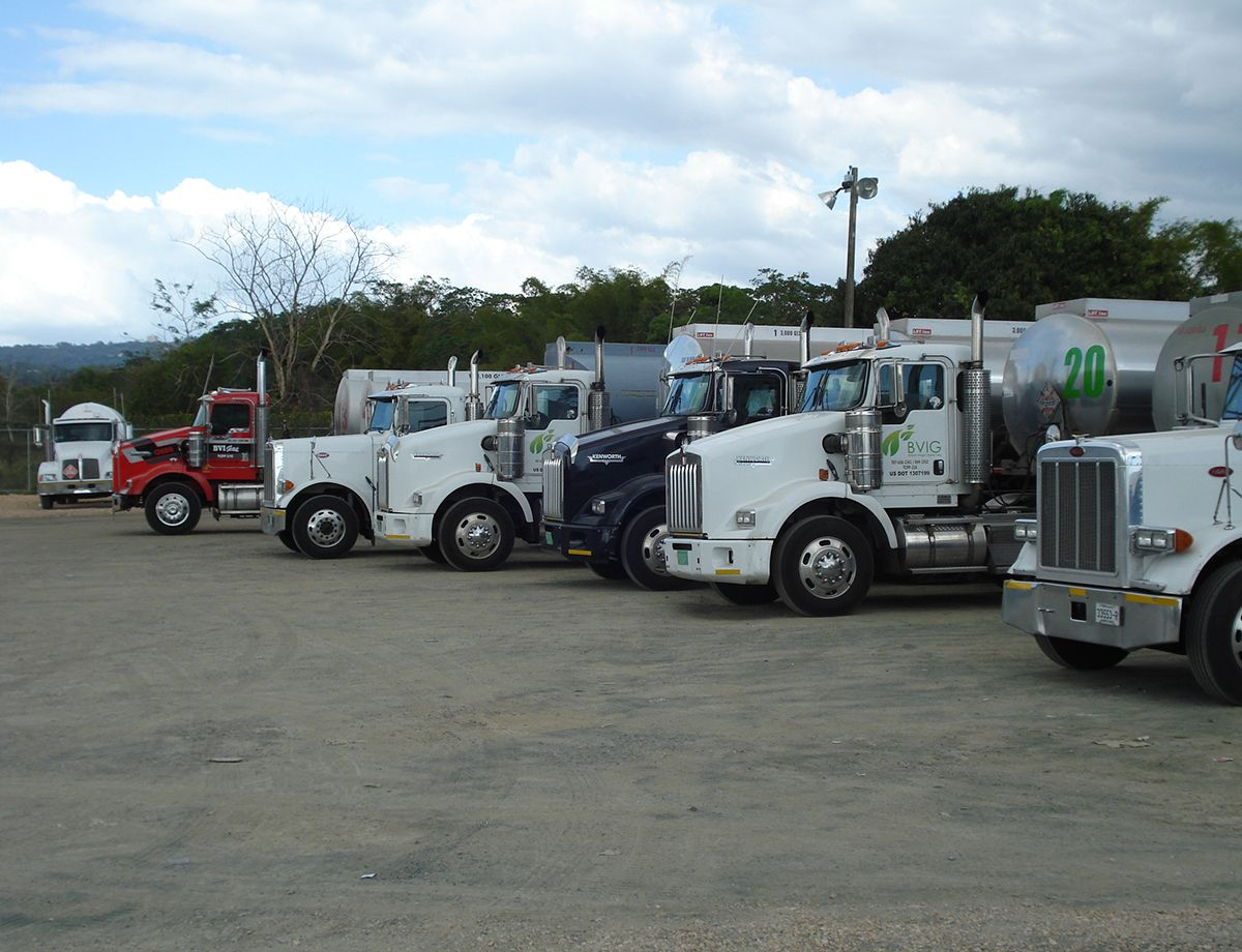 The company's fleet of 19 on-highway trucks are all equipped with Cat C13 diesel engines.