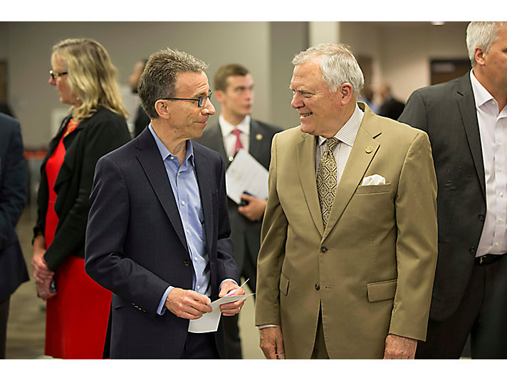 Jim Umpleby with Georgia Governor Nathan Deal.