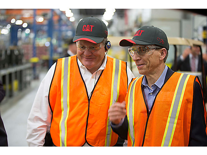 CEO Jim Umpleby tours the facility in Athens with Caterpillar Board of Directors member Edward Rust, Jr.