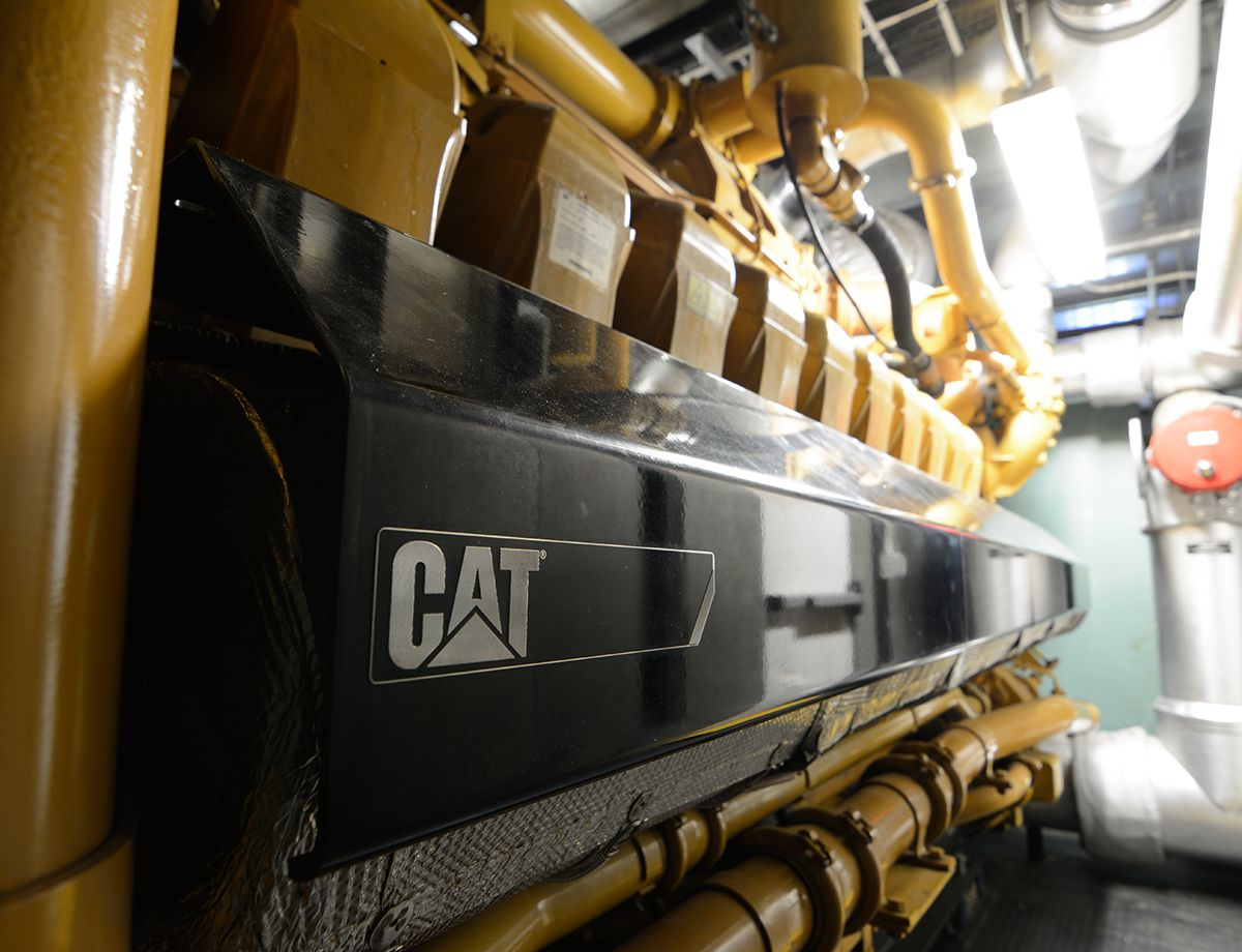 The biogas that results from the process is used to power two Cat G3520C generator sets that create about 3.2 MW of electricity.