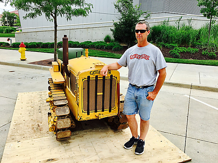 Tim Metternick with his 1932 Caterpillar Ten tractor.