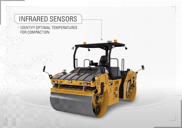 Infrared sensors identify optimal temperatures for compaction.