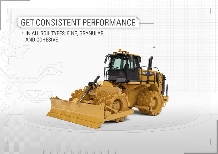 Get consistent performance in all soil types: fine, granular and cohesive.